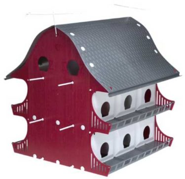 16 Family Purple Martin bird house barn