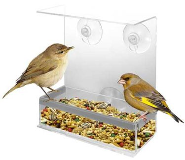 KOVOT Acrylic Window Bird Feeder