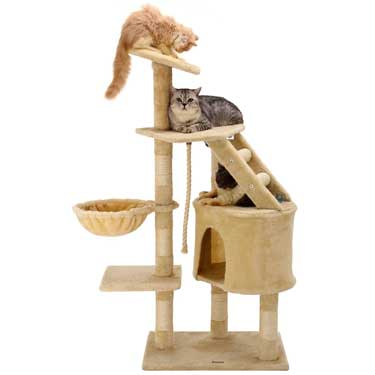 "Ollieroo 48"" Cat Climbing Tree Tower Condo Best cat trees for big cats"