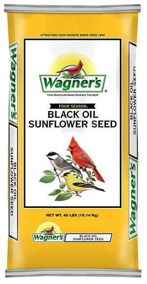 Wagner's Black Oil Sunflower bulk bird Seed, 40-Pound Bag