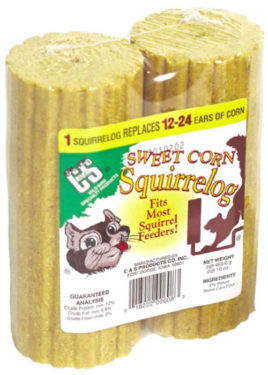 best food to feed squirrels sweet corn logs