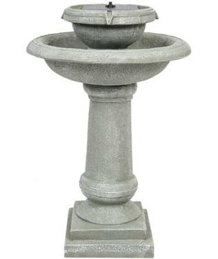 Best Choice Products Solar Powered Bird Bath 2 Tier Weathered Fountain