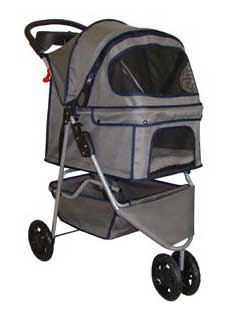 BestPet Pet Stroller for Cat or Dog - 3 Wheeler Doggie Buggie