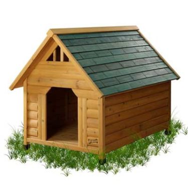 alpine style wooden dog house