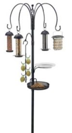 Gardman-BA01343-Complete-Bird-Feeding-Station-Kit-with-Four-Feeders,-,-6'1'-High