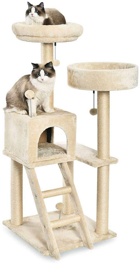 Amazon Large Cat Condo to keep your cats busy and never bored - Available from Amazon here...